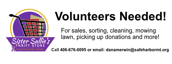 Volunteers needed for Sister Sallie's